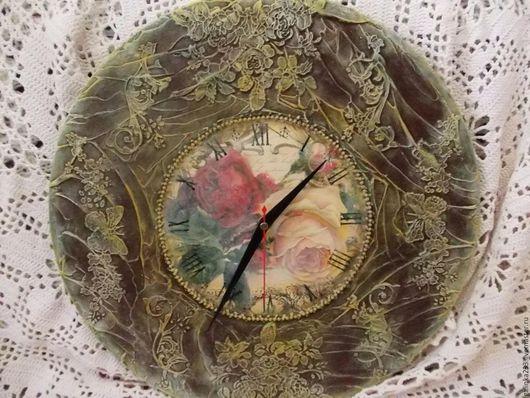 Часы для дома ручной работы. Ярмарка Мастеров - ручная работа. Купить Часы настенные интерьерные. Проданы.. Handmade. Комбинированный