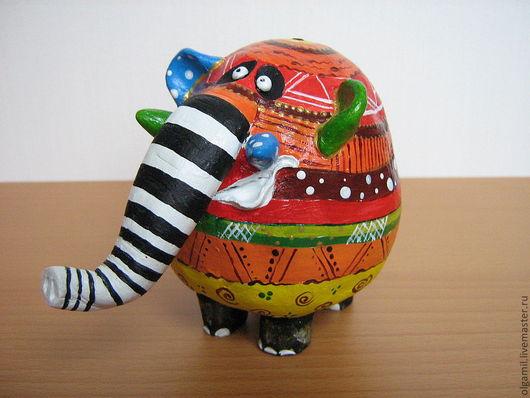 Статуэтки ручной работы. Ярмарка Мастеров - ручная работа. Купить Слон. Handmade. Слон игрушка, ручная работа, акриловые краски