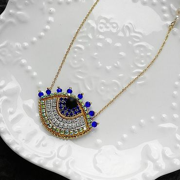 Decorations handmade. Livemaster - original item Gold-plated chain with pendant