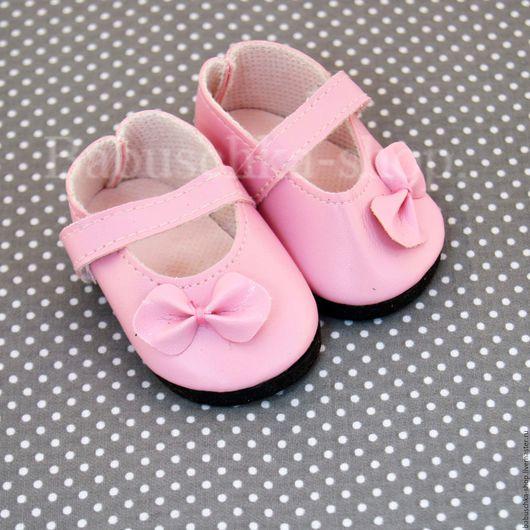 Куклы и игрушки ручной работы. Ярмарка Мастеров - ручная работа. Купить Обувь для кукол. Туфли розовые - 6,5 см. Handmade.