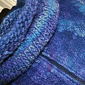 """Одежда ручной работы. Ярмарка Мастеров - ручная работа Валяный жилет """"In blue"""". Handmade."""