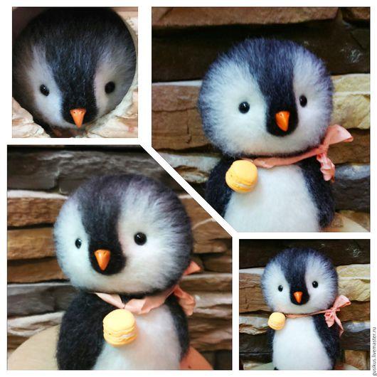 Игрушки животные, ручной работы. Ярмарка Мастеров - ручная работа. Купить Пингвин Чип. Handmade. Чёрно-белый, пингвины, пингвинчик
