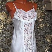Одежда ручной работы. Ярмарка Мастеров - ручная работа Ночная сорочка из шёлка. Handmade.