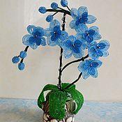 Цветы ручной работы. Ярмарка Мастеров - ручная работа Голубая орхидея. Handmade.