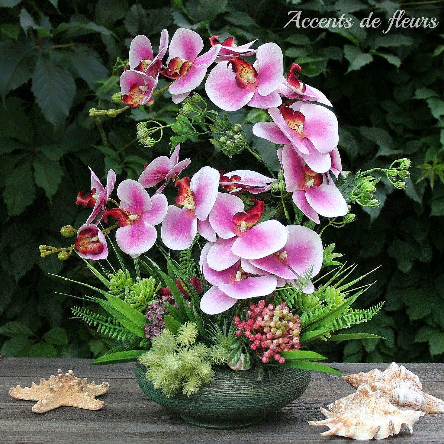 "Цветочная композиция Орхидеи в вазе ""Бали"", Композиции, Таганрог,  Фото №1"