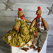 Куклы и игрушки ручной работы. Ярмарка Мастеров - ручная работа Куклы. Петух и Курочка.. Handmade.