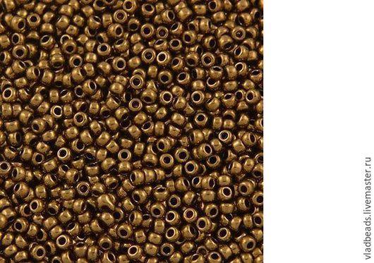 Для украшений ручной работы. Ярмарка Мастеров - ручная работа. Купить Бисер круглый Miyuki цвет 457L Metallic Light Bronze, 11/0. Handmade.