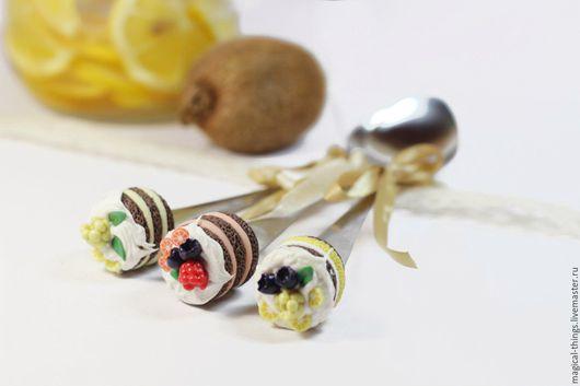 Ложки ручной работы. Ярмарка Мастеров - ручная работа. Купить Ложка с декором вкусная ложка с ягодами. Handmade. Ложка с декором