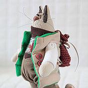 Куклы и игрушки ручной работы. Ярмарка Мастеров - ручная работа Коты. Кот путешественник. Handmade.