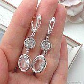 Украшения handmade. Livemaster - original item Earrings transparent silver beautiful stylish transparent decoration. Handmade.