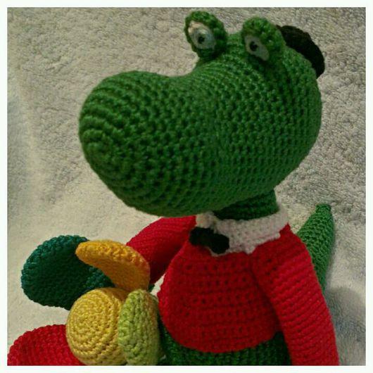 Сказочные персонажи ручной работы. Ярмарка Мастеров - ручная работа. Купить Крокодил. Handmade. Крокодил, Нитки Ирис