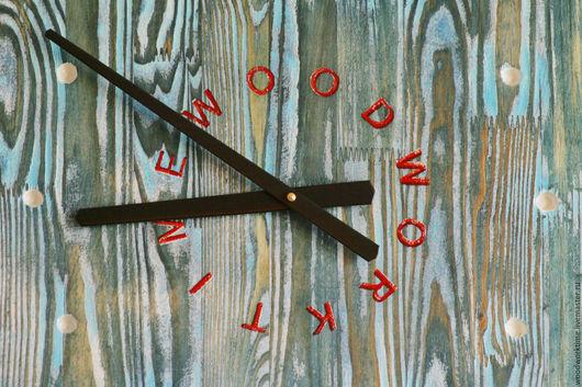 Часы для дома ручной работы. Ярмарка Мастеров - ручная работа. Купить Wall Clock WWT - часы. Handmade. Бирюзовый