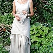 Одежда ручной работы. Ярмарка Мастеров - ручная работа Летнее платье  и подъюбник из натурального льна. Handmade.