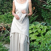 Одежда handmade. Livemaster - original item Summer dress and petticoat made of natural linen. Handmade.