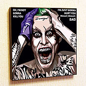 Картины и панно handmade. Livemaster - original item Painting Pop Art The Joker Suicide Squad. Handmade.