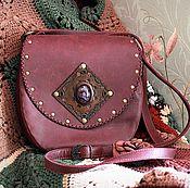 Сумки и аксессуары handmade. Livemaster - original item Bag made of genuine leather with fluorite
