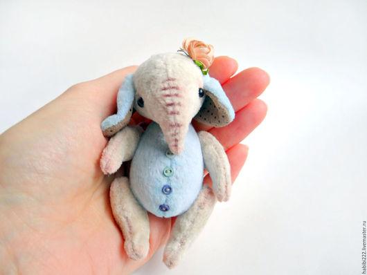 Мишки Тедди ручной работы. Ярмарка Мастеров - ручная работа. Купить Слоник Няша. Handmade. Голубой, слоненок, талисман