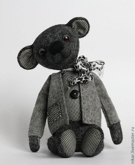 """Мишки Тедди ручной работы. Ярмарка Мастеров - ручная работа. Купить Мишка """"Обама"""". Handmade. Черный, медведь, шлифованная фанера"""
