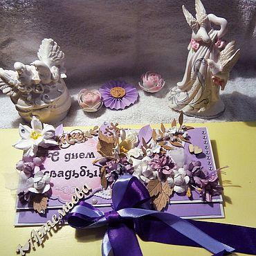 Свадебный салон ручной работы. Ярмарка Мастеров - ручная работа Конверты для денег. Handmade.