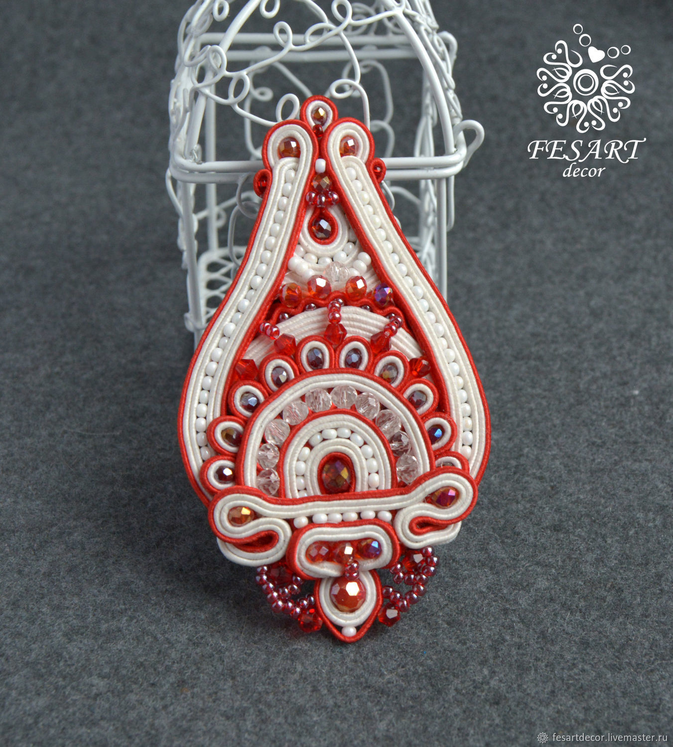 Brooch The Flower Of The East, Brooches, Lipetsk,  Фото №1