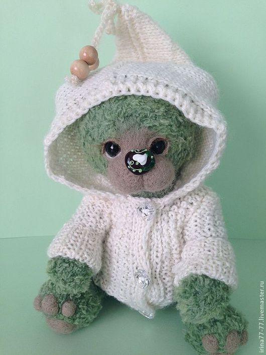 Мишки Тедди ручной работы. Ярмарка Мастеров - ручная работа. Купить Женька. Handmade. Зеленый, подарок на любой случай, камфорель