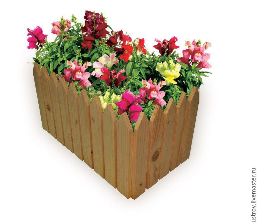 Оградка для цветов из дерева