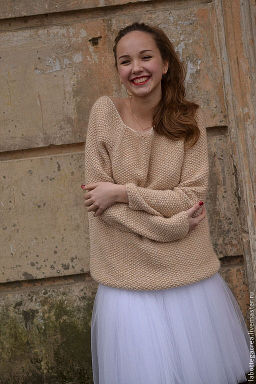 Кофты и свитера ручной работы. Ярмарка Мастеров - ручная работа. Купить Вязаный свитер грубой вязки  La Perla. Handmade.