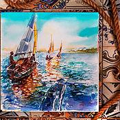 Картины и панно handmade. Livemaster - original item Mare turchese - painting watercolor. Handmade.