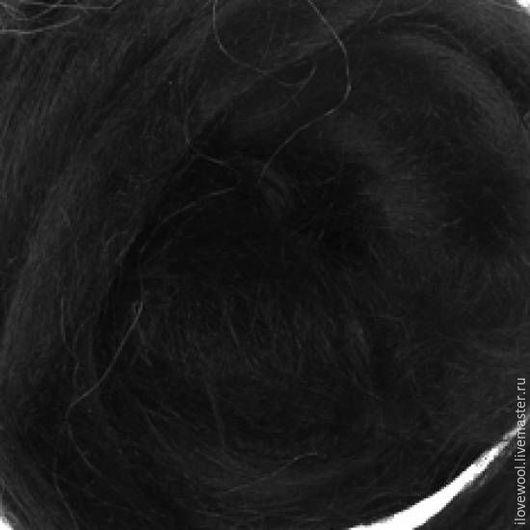 Валяние ручной работы. Ярмарка Мастеров - ручная работа. Купить Волокна Крапивы (Рами) Потемки. Handmade. Черный, материалы для творчества