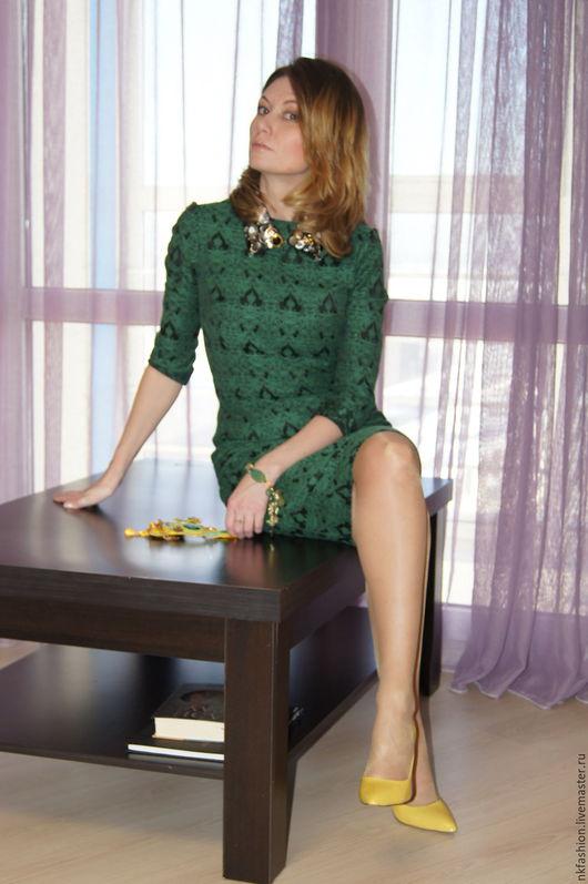 Платья ручной работы. Ярмарка Мастеров - ручная работа. Купить Платье из жаккарда. Handmade. Платье, итальянские ткани, индивидуальный пошив