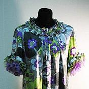Одежда handmade. Livemaster - original item Dress of silk and chiffon Flower. Handmade.