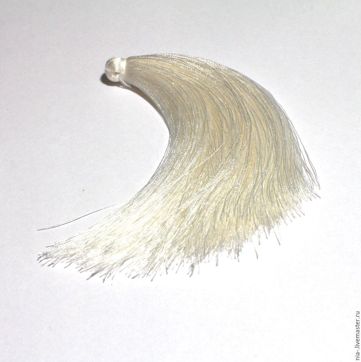 Кисти для украшений белые 12 см k223, Шнуры, Москва, Фото №1