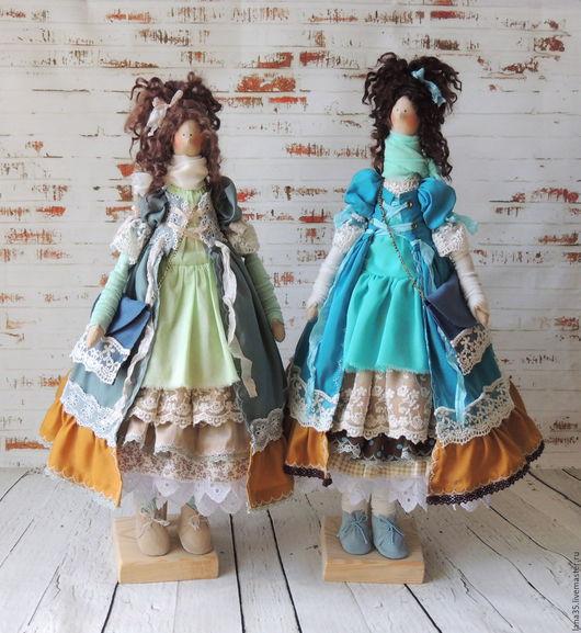 Куклы Тильды ручной работы. Ярмарка Мастеров - ручная работа. Купить Подружки. Handmade. Комбинированный, подарок девушке, кружево, цепочка