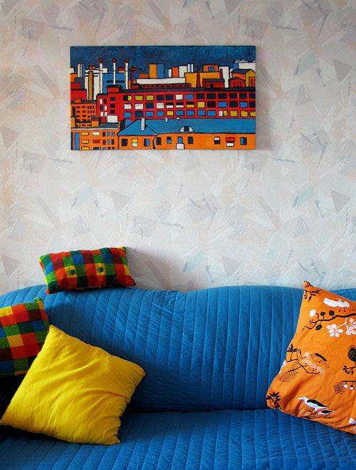 Город ручной работы. Ярмарка Мастеров - ручная работа. Купить Картина «Город». Handmade. Интерьер, акрил, подарок для дома, пейзаж