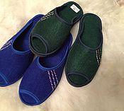 Обувь ручной работы. Ярмарка Мастеров - ручная работа Войлочные тапки с открытым носом от производителя. Handmade.
