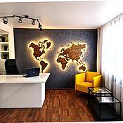 Для дома и интерьера handmade. Livemaster - original item LIGHT FOR THE WORLD MAP. Handmade.