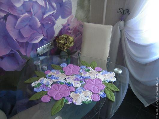 """Кухня ручной работы. Ярмарка Мастеров - ручная работа. Купить Салфетка """"Цветы"""". Handmade. Сиреневый, купить подарок девушке"""