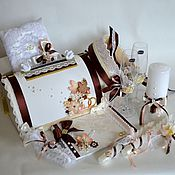 """Свадебный салон ручной работы. Ярмарка Мастеров - ручная работа Свадебный комплект """" Осенний винтаж """". Handmade."""