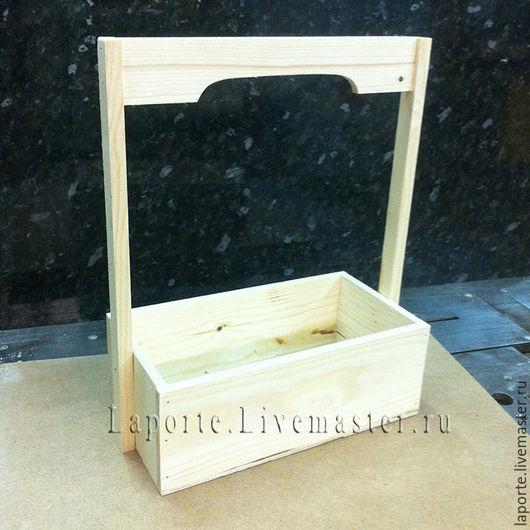 Подарочная упаковка ручной работы. Ярмарка Мастеров - ручная работа. Купить Ящик для цветов деревянный #3, заготовка. Handmade.