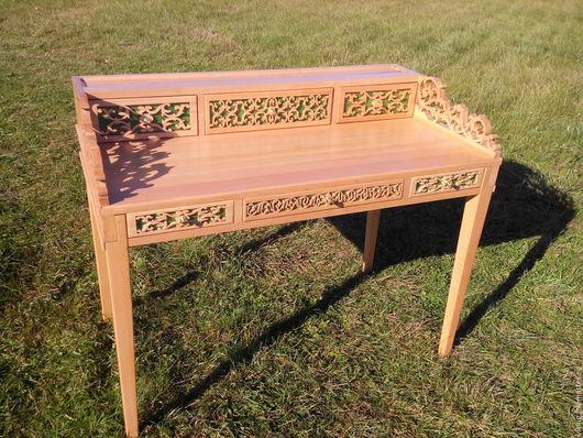 Мебель ручной работы. Ярмарка Мастеров - ручная работа. Купить СтолV13 письменный из массива бука. Handmade. Разноцветный, стол из дерева