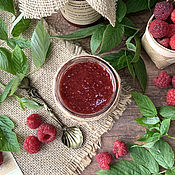 Сувениры и подарки handmade. Livemaster - original item Natural Raspberry Jam. Handmade.