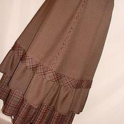 Юбки ручной работы. Ярмарка Мастеров - ручная работа Длинная двойная юбка бохо. Handmade.