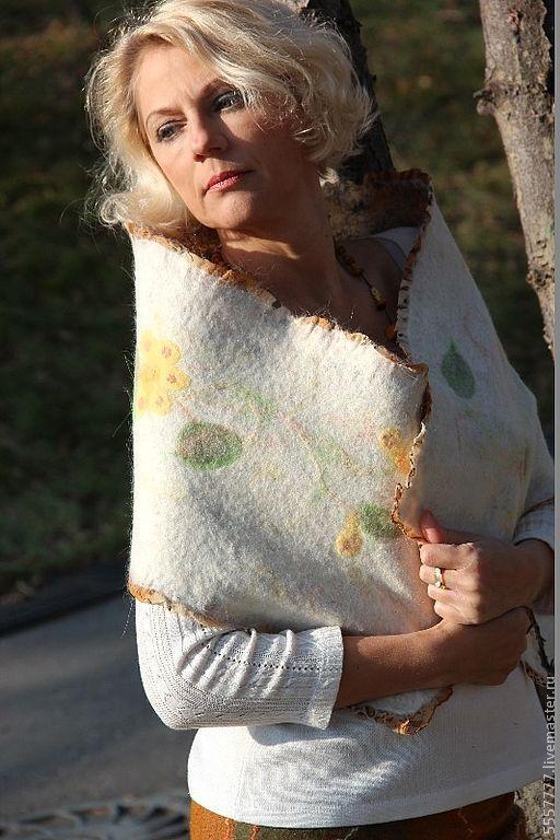 Шарфы и шарфики ручной работы. Ярмарка Мастеров - ручная работа. Купить Теплый шарф.. Handmade. Белый, зимний шарф, ангора