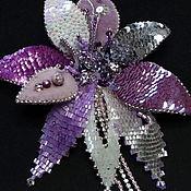 Украшения handmade. Livemaster - original item Purple Orchid. Brooch 3D mixed media. Handmade.