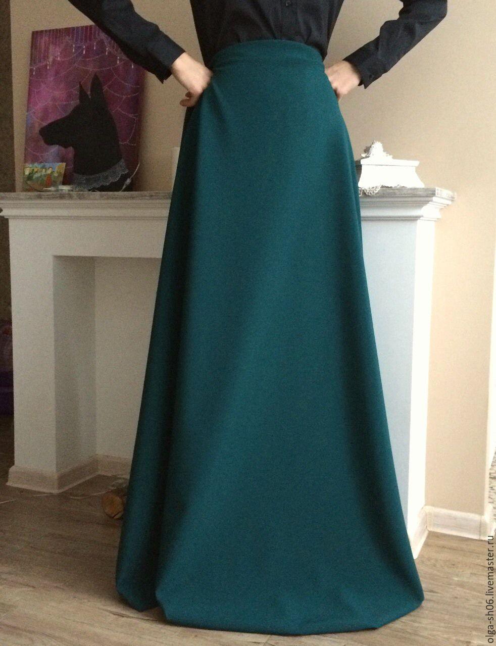 Длинная юбка из габардина сшить 96