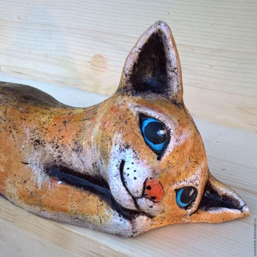 Миниатюрные модели ручной работы. Ярмарка Мастеров - ручная работа. Купить Кошка Лапа большая. Handmade. Шамот, подарок мужчине