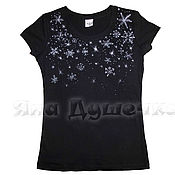 Одежда handmade. Livemaster - original item T-shirt  hand painted snowflakes. Handmade.