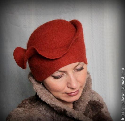 """Шляпы ручной работы. Ярмарка Мастеров - ручная работа. Купить Зимняя дамская шляпка """"Метель. У камелька"""". Handmade. Рыжий"""