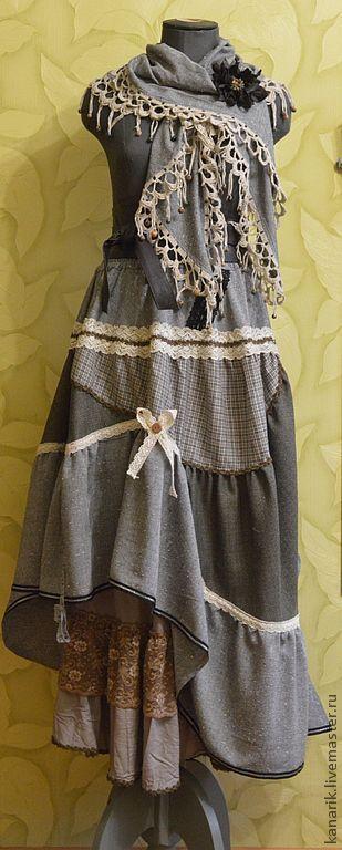"""Юбки ручной работы. Ярмарка Мастеров - ручная работа. Купить юбка """"Macbeth"""". Handmade. Серый, юбка в пол, ассиметричная юбка"""