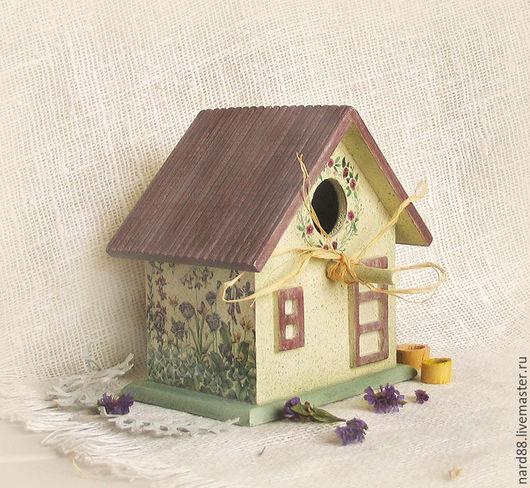 Детская ручной работы. Ярмарка Мастеров - ручная работа. Купить скворечник интерьерный Птичкин дом. Handmade. Желтый, скворечник из дерева